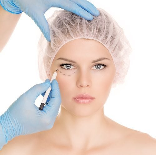 womans face getting procedure