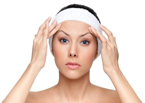 woman prepping or facelift